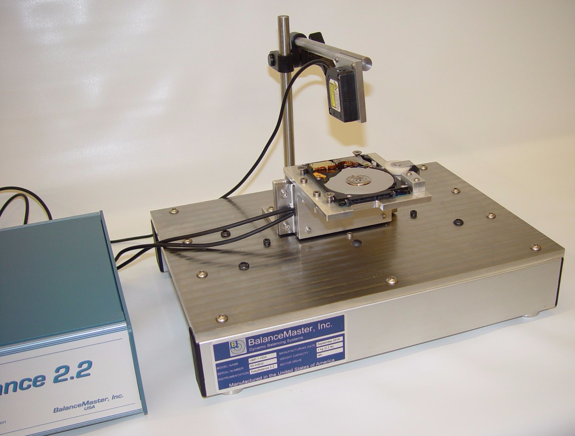 balancing machine for hard disk drives