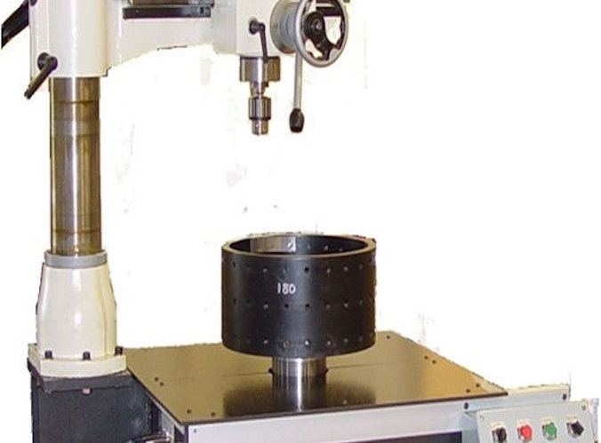 vertical balancing machine with drill press